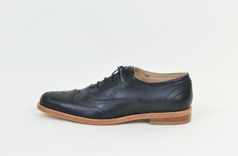 Men's LOVECAT Brogue in Black Leather