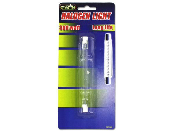 "300 Watt Halogen Light Bulb, 72 - Easy to install, this 300 Watt Halogen Light Bulb features a bright light with a long life. Instructions for use and care are located on back of card. Light is approximately 4 1/2"" long. Comes packaged in a blister pack.-Colors: transparent. Material: glass. Weight: 0.0806/unit"