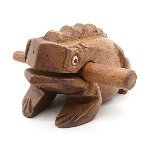 Wooden Frog Rasp Musical instruments of Africa Frog Rasp Super Guiro (6 Inch)  Wooden Frog Rasp Musical instruments of Africa Frog Rasp Super Guiro