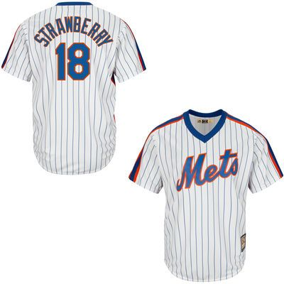 Men's New York Mets Darryl Strawberry Majestic White Cool Base Cooperstown Collection Player Jersey