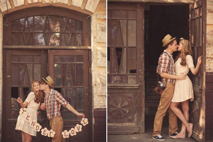 квартире фотосессия винтажный стиль для пары чаще всего появляются