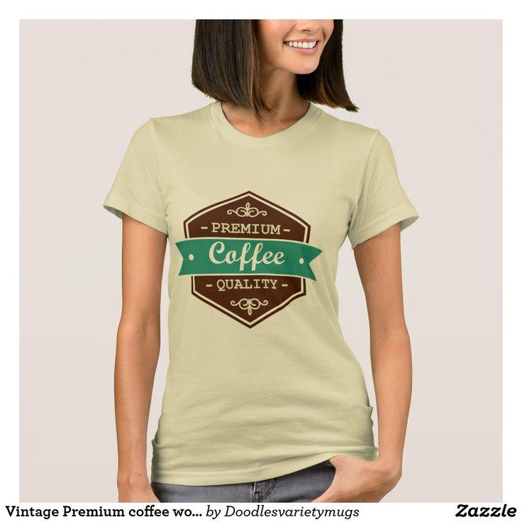 Vintage Premium coffee word art t-shirt