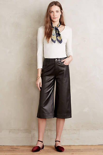 J Brand Judy Leather Culottes - anthropologie.com