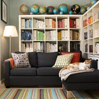 book shelves and GLOBES