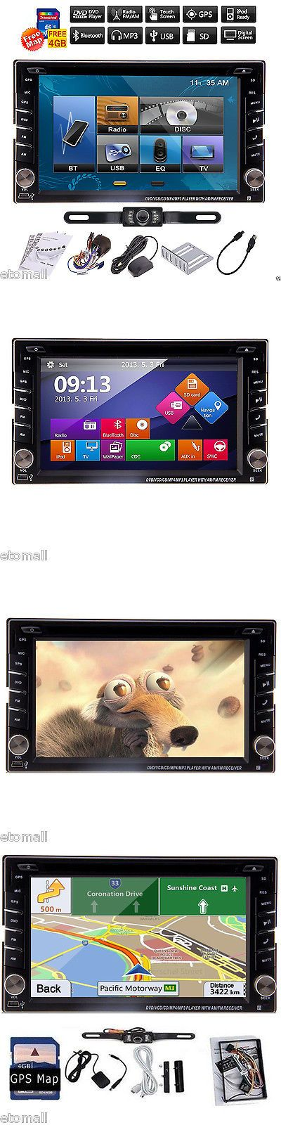 Vehicle Electronics And GPS: Gps Navi Hd Double 2Din Car Stereo Dvd Radio Player Bt Ipod Mp3+Backup Camera BUY IT NOW ONLY: $124.96