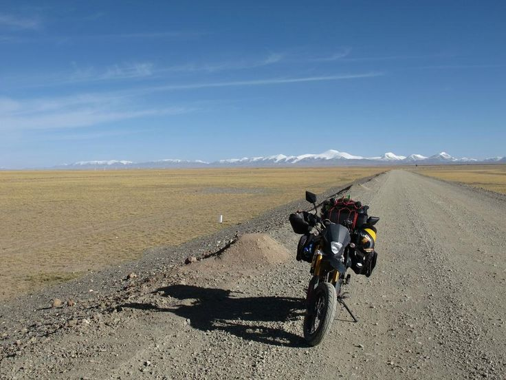 County road across southern Qinghai