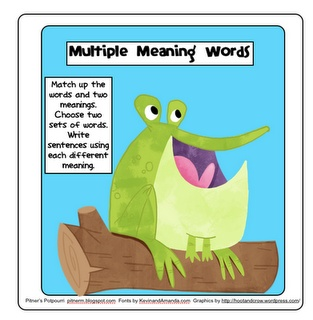 Multiple Meaning Words Freebie - from the blog, Pitners Potpourri.  Repinned by  SOS Inc. Resources.  Follow all our boards at pinterest.com/...  for therapy resources.#Repin By:Pinterest++ for iPad#