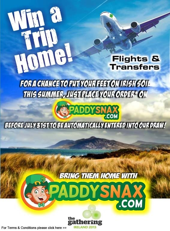 Win a holiday with Paddysnax.com