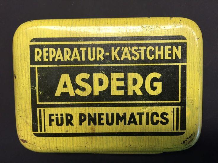 Asperg Reparatur Kästchen für Pneumatics, Flickzeug für Reifen, Dose mit Inhalt