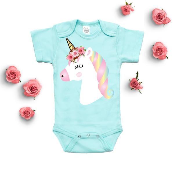 Baby Girl Clothes | Personalized Unicorn Onesie | Custom Baby Onesie