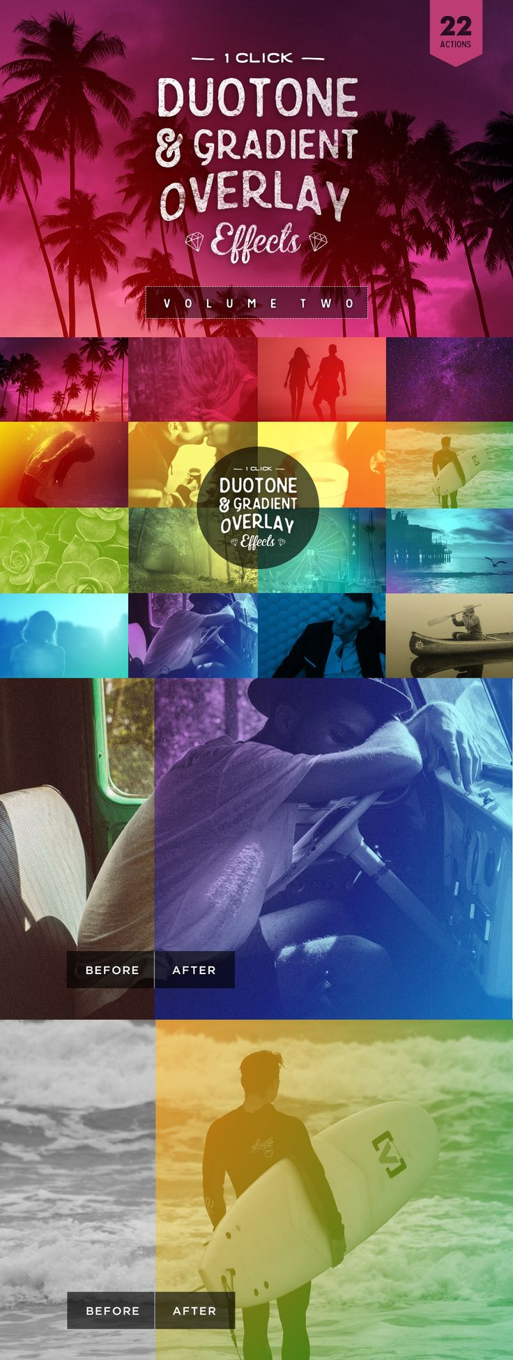 Color Effects - Gradient Overlay #PhotoshopActions --#GraphicDesign @creativemarket