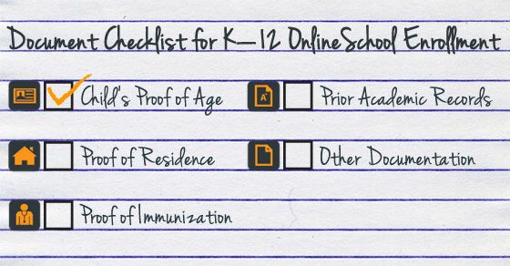 A Simple Document Checklist for Online School Enrollment at Connections Academy http://www.connectionsacademy.com/blog/posts/2014-03-03/A-Simple-Document-Checklist-for-K-12-Online-School-Enrollment.aspx
