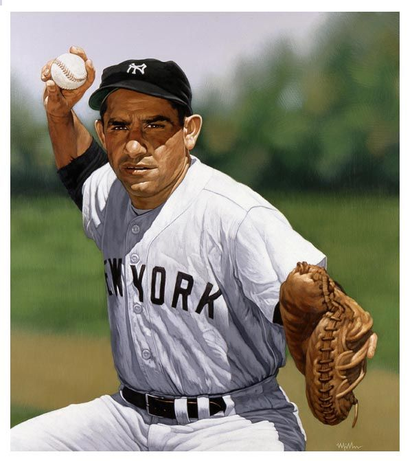 Yogi Berra - former American Major League Baseball catcher, outfielder, and manager