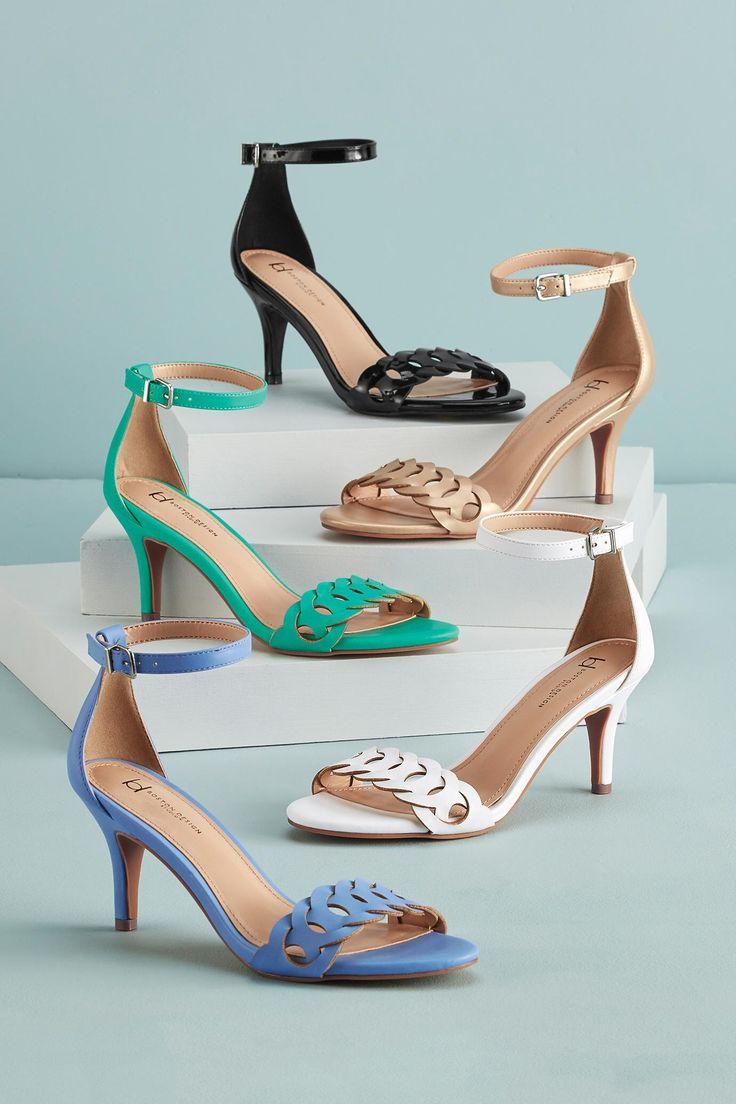 Circular Cutout Ankle Strap Sandals By Boston Design