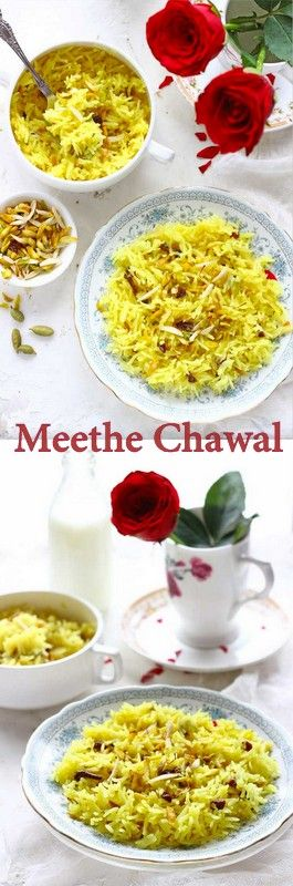 Meethe Chawal or the sweet pulao is considered one of the most auspicious dishes in Punjabi Cuisine. This savory pulao recipe is perfect for a little sweet indulgence. funfoodfrolic.com