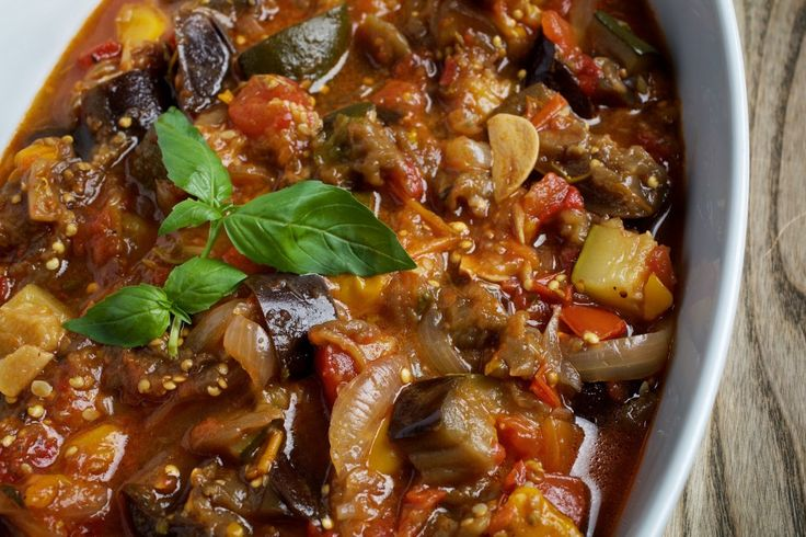Slow-Cooker Ratatouille- Great and healthy, I add chicken and diakon to the recipie. I serve it w/ fruit and a nice leafy salad. If you grow your herbs all the better.