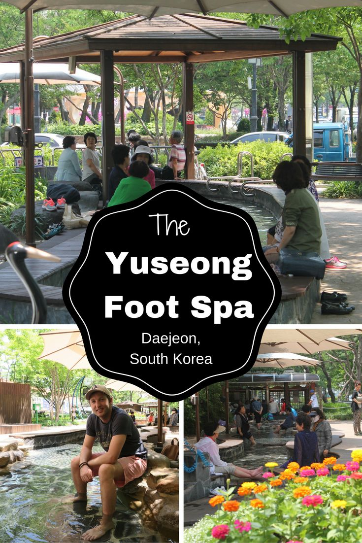 Yuseong Foot Spa, an oasis in the middle of Daejeon, South Korea.