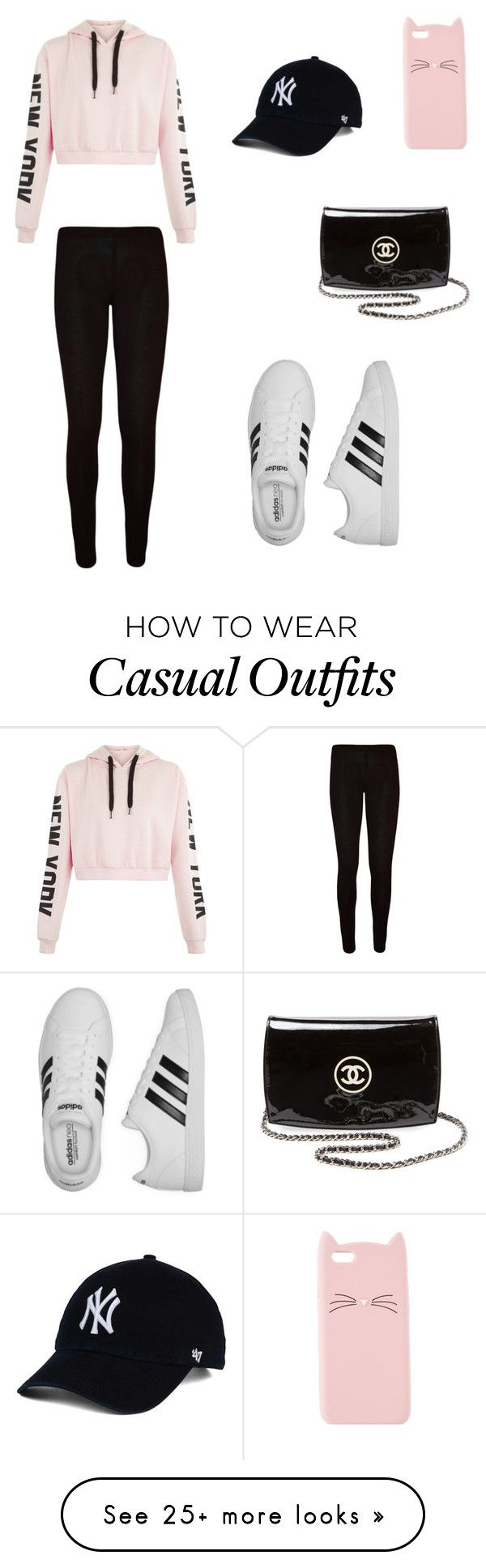 """""""Casual"""" by kayleefae on Polyvore featuring WearAll, adidas, Charlotte Russe and Chanel"""