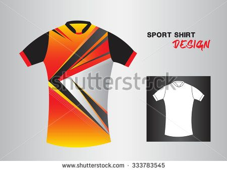 red sport shirt design vector illustration