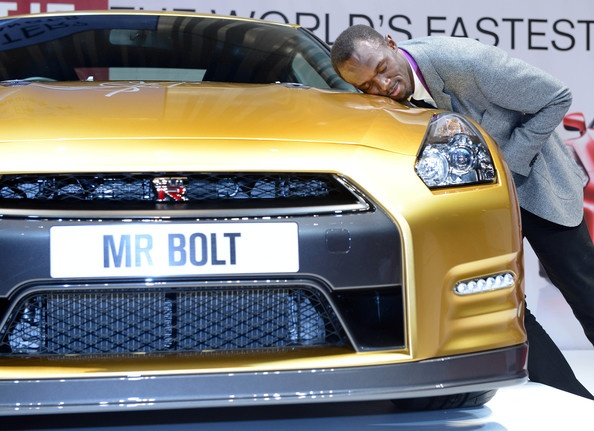 Usain Bolt Photo - Usain Bolt Visits Nissan Headquarters