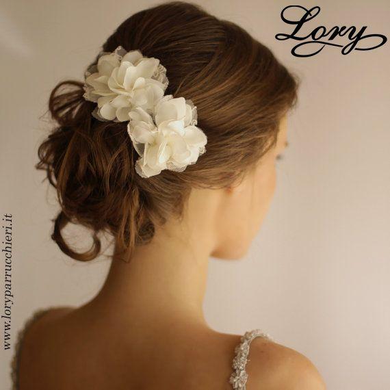 Wedding Hair Piece Vintage Lace - Wedding Hair Flower Clip Set of 2 - Bridal…