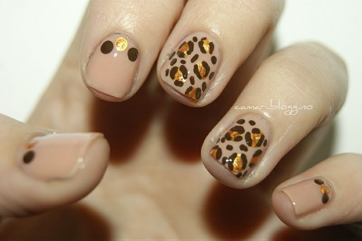 Leopard nail art by me :) Cassandra Berg #nailart #naildesign #nails #nailpolish #negler #negledesign #neglelakk