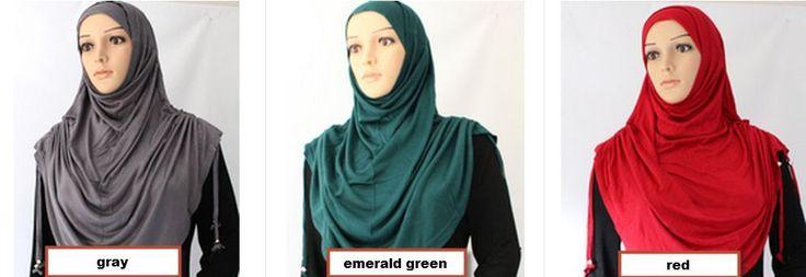 NEW drawstring JERSEY long al-amira 2 piece hijab big large STRETCH COTTON scarf #MAXILARGESCARF2PIECES