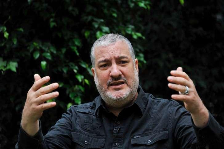 El fotógrafo y artista estadounidense Spencer Tunick en una entrevista con AFP en Bogotá el 2 de junio de 2016