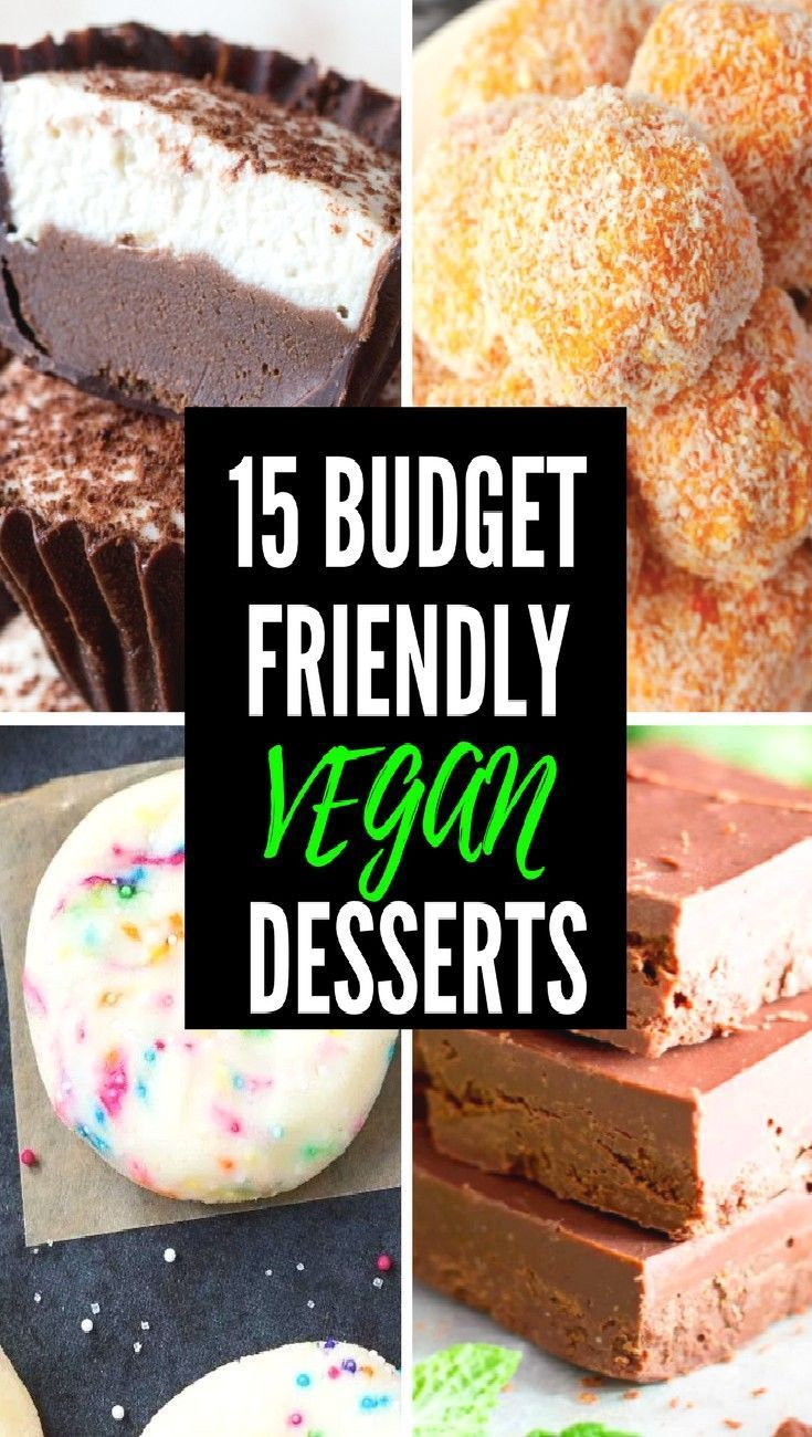 15 BUDGET FRIENDLY VEGAN DESSERT RECIPES