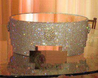 12 14 16 round silver bling wedding cake by aprincesspractically