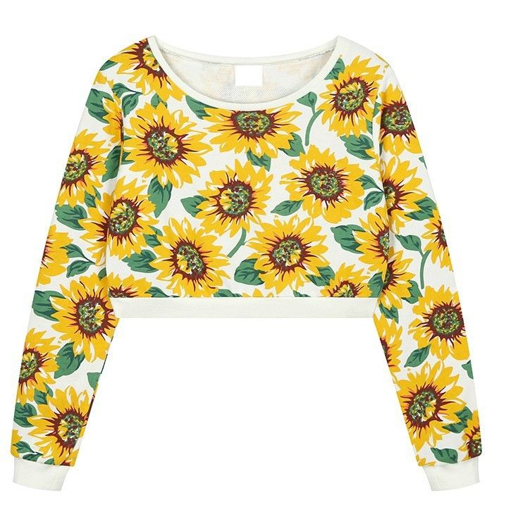 Sunflower Crop graphic print jersey Shop Now: http://ontrendmall.com/index.php?route=product/product&product_id=233