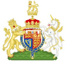 Coat of arms for HRH The Duke of York (Prince Andrew).  The anchor has been a brisure for Dukes of York since 1892.