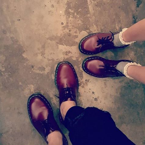 The Cherry Red 1461 shoes. Shared by ccchang22.
