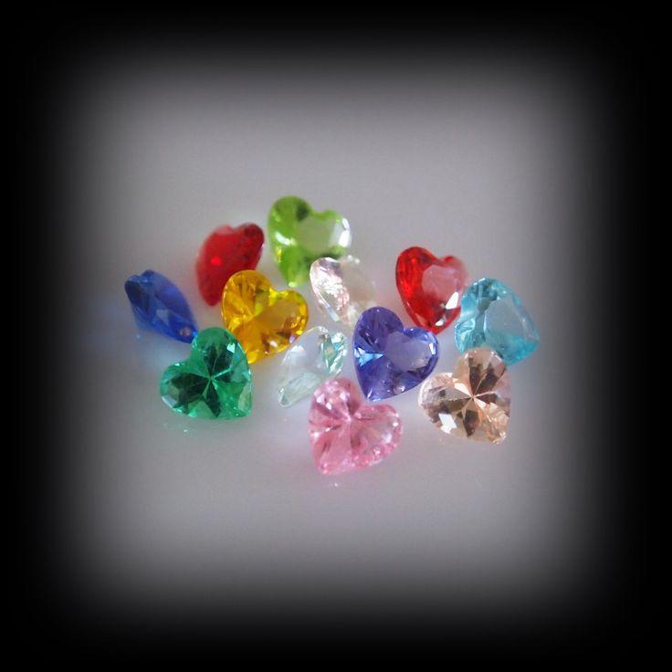 Floating Crystal Heart Cluster