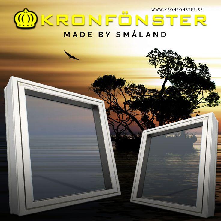 Fönster från Kronfönster - Made by Småland  Småland: Utåtgående överkantshängt fönster 3-glas  #fönster #pvcfönster#energifönster #Kulturfönster #Kronfönster  Läs mer » https://goo.gl/Yz7XV7