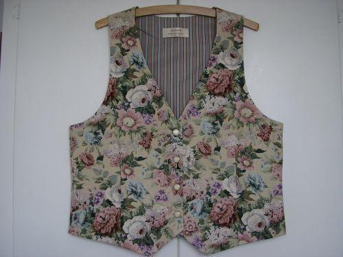 "Linen English Garden Ladies Waistcoat 334"" - 36"""