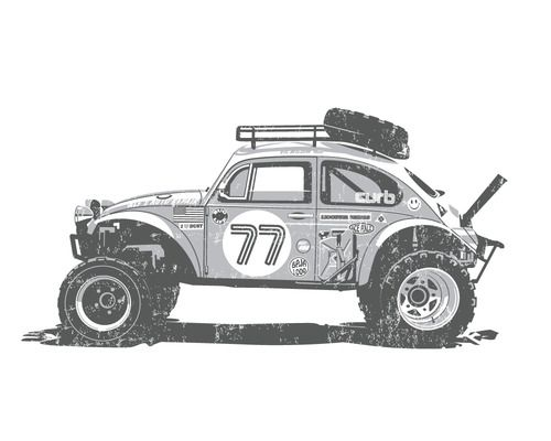 #illustration #design #cars #coches | caferacerpasion.com