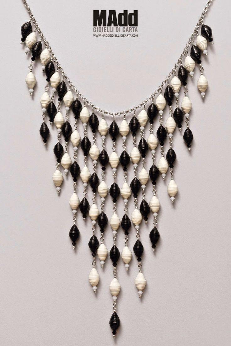 MAdd Gioielli di carta / MAdd Paper jewels: «Gisele» Parure / Collana - Necklace