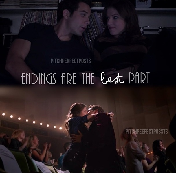 Beca & Jesse - Pitch Perfect. <3 man he's so right and I loved this ending I was just waiting for them ti get together and kiss!