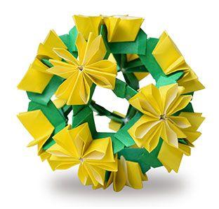 origami kusudama dandelion