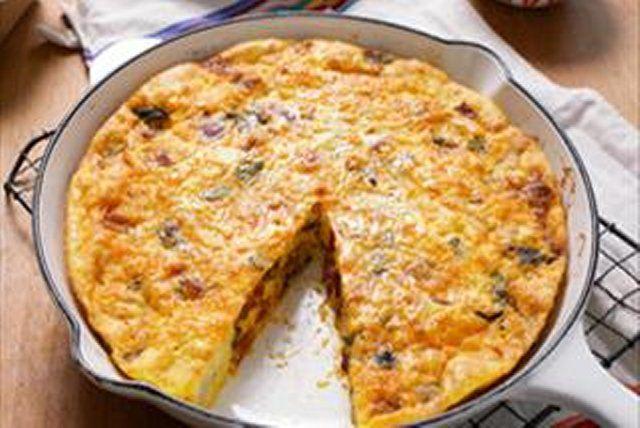 Omelette de chorizo, papa y poblanos