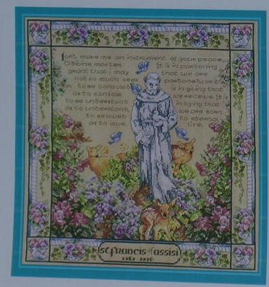 St Francis Of Assisi Cross Stitch Pattern From Vermillion