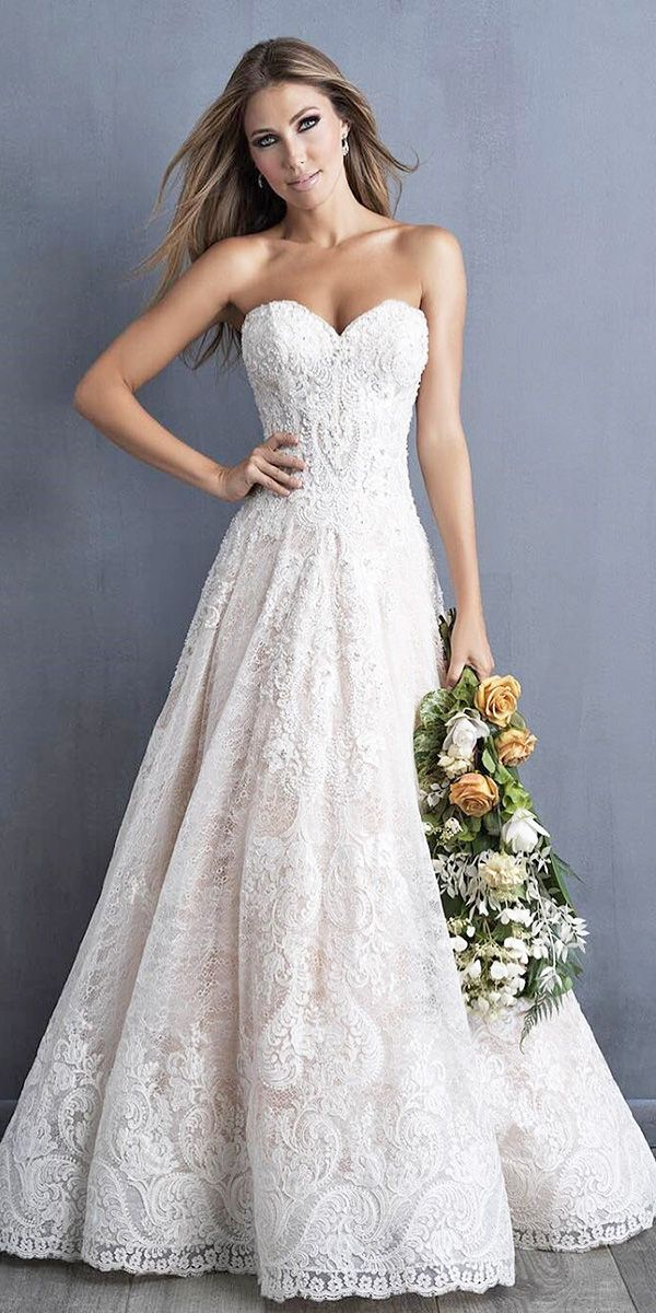Hottest 21 Wedding Dresses Fall 2018 ❤ wedding dresses fall 2018 lace sweetheart a line gown allure bridals ❤ See more: http://www.weddingforward.com/wedding-dresses-fall-2018/ #weddingforward #wedding #bride #weddingdresses2018