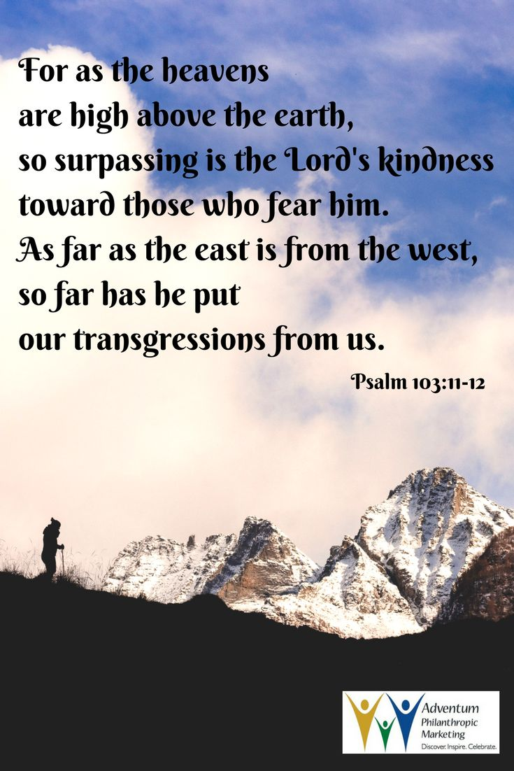 June 2, 2017 – Psalm 103:11-12
