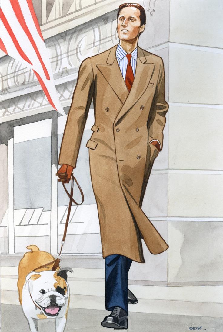 Fashion illustration (men) circa 2005 by Lamont O'Neal