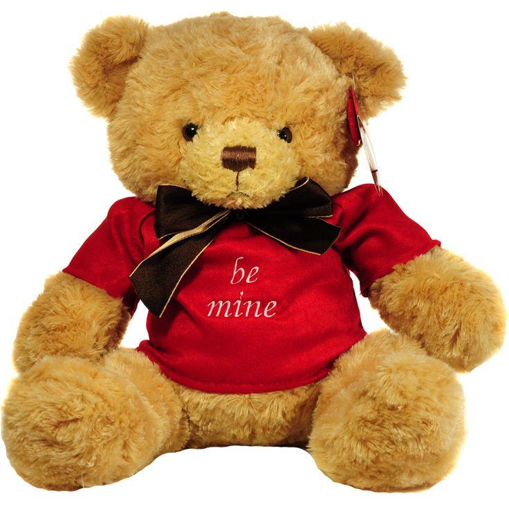 "Ursulet #personalizat prin broderie ""be mine"" http://www.cadouripersonale.ro/Ursulet-de-plus-personalizat-27cm-p-17035-c-383-p.html"