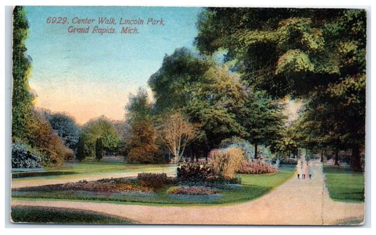 1913 Center Walk, Lincoln Park, Grand Rapids, MI Postcard | Collectibles, Postcards, US States, Cities & Towns | eBay!