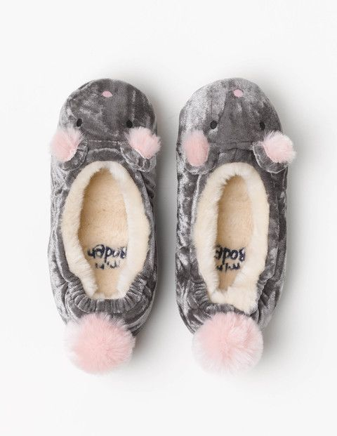 Mini Boden Mouse Slippers