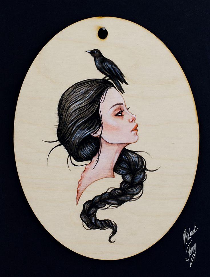 raven girl by BlackFurya.deviantart.com on @DeviantArt