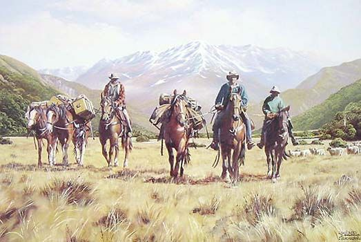 Alpine Muster No 1 by Jeanette Blackburn for Sale - New Zealand Art Prints